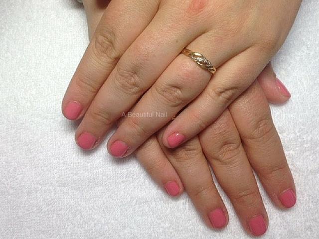Gellak roze korte nagel