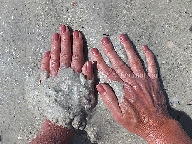 Gellak zand Bruin rood