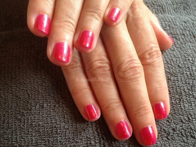 Rode nagellak Manicure