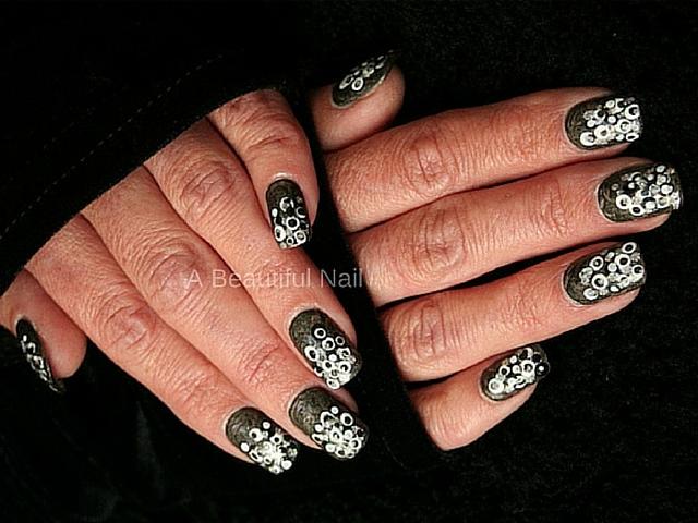 nail-art zwart-wit Marja