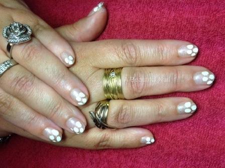 Zelf nail Art zetten met foto voorbeelden #3 witte stippen