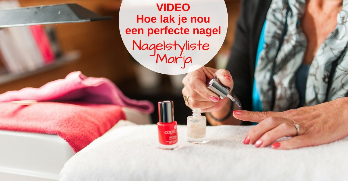 VIDEO: Perfect nagels lakken. Hand nagelstyliste Marja die nagels lakt