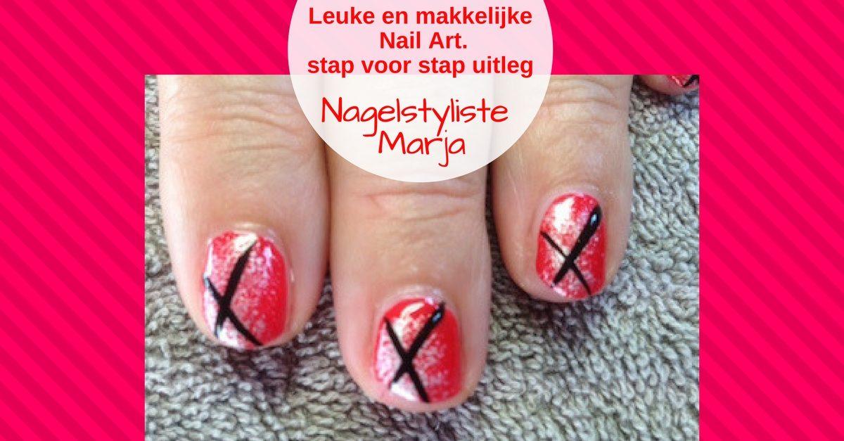 Zelf Nail Art zetten met foto voorbeelden #4. 3 vingers met Nail Art