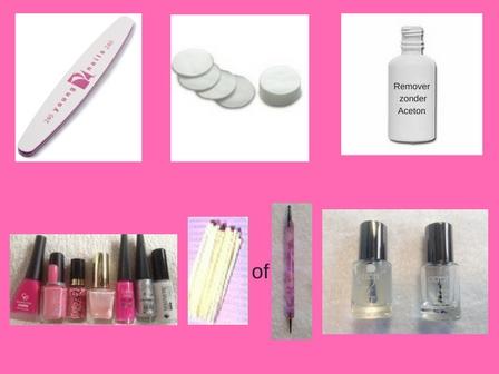 Zonnige nagels-stap voor stap doe ik het voor Alles wat je nodig hebt de benodigheden